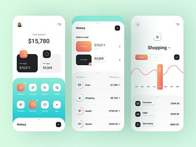 Mobile bank - App Design bank app banking bank financial app finance app finances financial fintech finance mobile design app mobile app design mobile ui mobile app app design