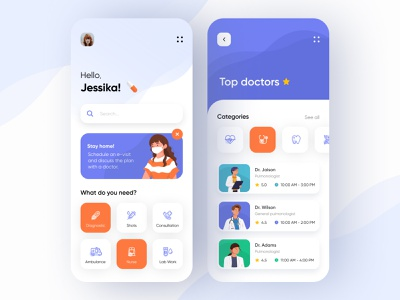 Medical Mobile App clinic hospital doctor healthcare health medical app medicine medical mobile design mobile app design mobile ui mobile app app design app
