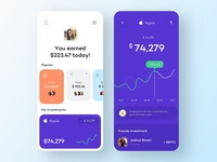 Financial investments - Mobile App investor investment fintech app financial app finance app financial finances fintech finance mobile design mobile app design app mobile ui mobile app app design