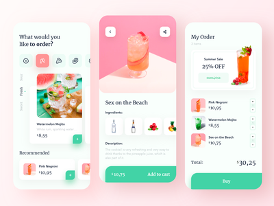 Food order - Mobile App food ordering app food ordering food order food and drink food app food mobile design mobile app design app mobile ui mobile app app design