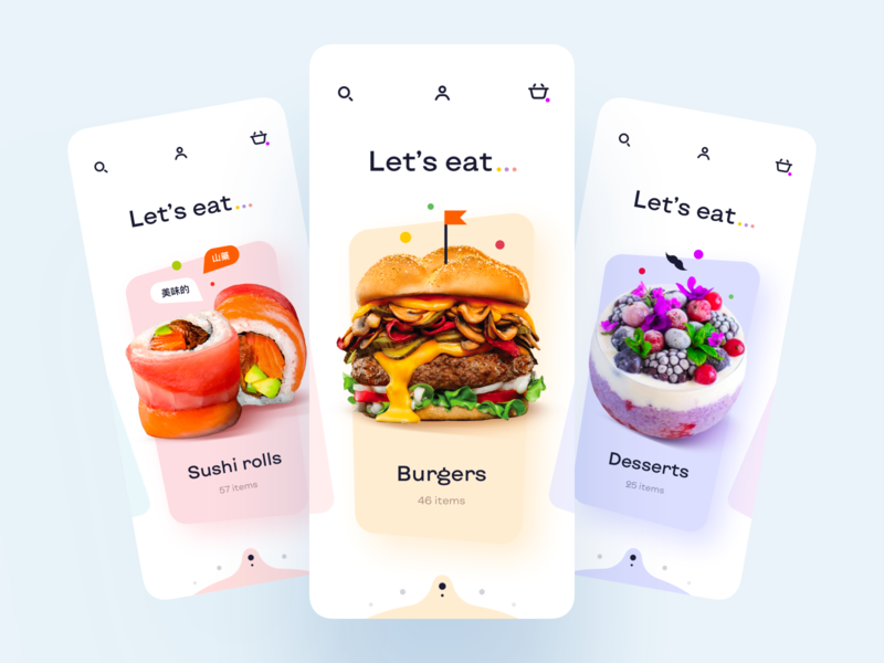 Food Delivery - Mobile App food delivery application food delivery service food delivery app food delivery food and drink food app food mobile design mobile app design app mobile ui mobile app app design