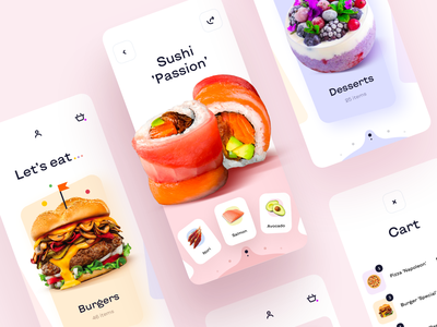 Food Order - Mobile App food delivery application food delivery service food delivery app food delivery food and drink food app food mobile design mobile app design app mobile ui mobile app app design