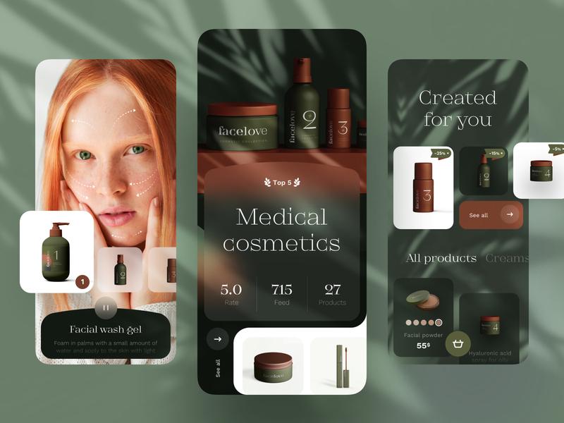 Medical Cosmetic - Mobile App medical design medical care medecine medical cosmetics cosmetic mobile design mobile app design app mobile ui mobile app app design