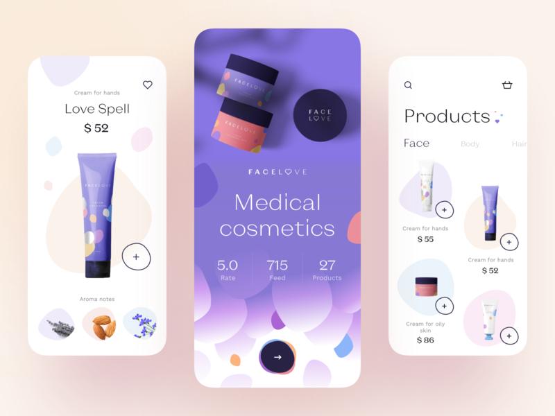 Medical Cosmetic - App Design uiux ux design ui design medical care medical app medicine medical cosmetics cosmetic mobile design mobile app design mobile ui app mobile app app design