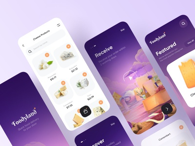 Food Delivery - App Design ui design ui mobile mobile design mobile app design mobile ui mobile app food delivery service food delivery application food delivery app food delivery food app food and drink food app app design
