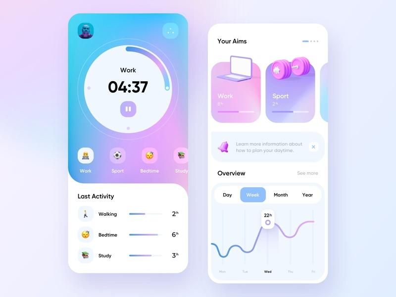 Day tracker - Mobile App productive health productivity app productivity tracking app tracking tracker tracks track mobile design mobile app design app mobile ui mobile app app design