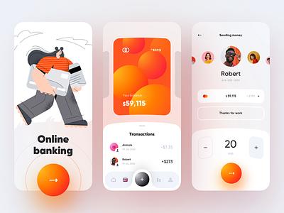 Online banking - Mobile App finance app finances fintech app banking app bank card bank app bank banking fintech finance mobile design mobile app design app mobile ui mobile app app design