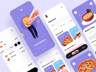 Food Delivery - Mobile App food delivery application food delivery service food delivery app food delivery food app food mobile design mobile app design app mobile ui mobile app app design