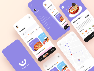 Food service - Mobile App food app food delivery application food delivery service food delivery app food delivery mobile design mobile app design app mobile ui mobile app app design