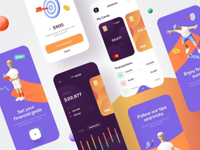 Mobile bank - Mobile App banking app bank app financial app finances finance app bank banking fintech finance mobile design mobile app design app mobile ui mobile app app design
