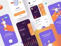 Mobile bank - Mobile App banking app bank app financial app finances finance app bank banking fintech finance mobile design mobile app design app mobile ui mobile app app design