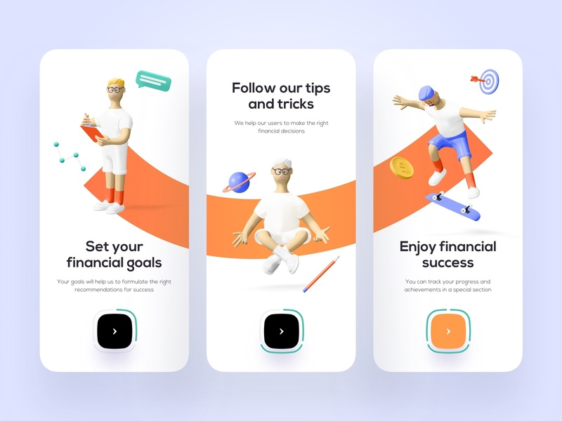 Onboarding for finance - Mobile App financial financial app finance app finances bank banking fintech finance mobile design mobile app design app mobile ui mobile app app design