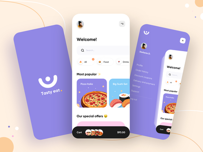 Food delivery service - Mobile App food delivery application food delivery service food delivery app food delivery mobile design mobile app design app mobile ui mobile app app design