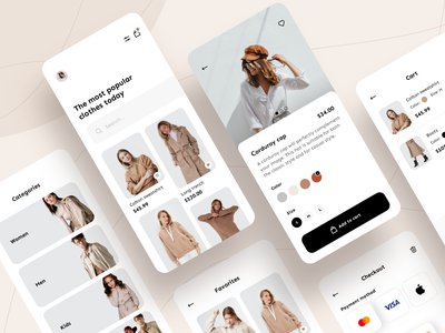 Fashion e-commerce - Mobile App e-commerce design e-commerce shop e-commerce app e-commerce fashion brand fashion app fashion mobile design mobile app design app mobile ui mobile app app design