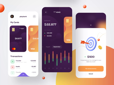 Mobile bank - Mobile Design banking app bank app financial app financial finances finance app bank banking fintech finance mobile design mobile app design app mobile ui mobile app app design