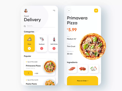 Food Delivery service - Mobile App food delivery application food delivery service food delivery app food delivery food illustration food and drink food app mobile design mobile app design app mobile ui mobile app app design
