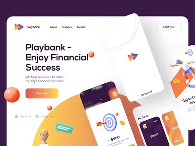 Playbank - Mobile App financial financial app finance app finances banking app bank app bank banking fintech finance mobile design mobile app design app mobile ui mobile app app design