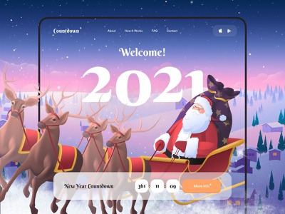 Happy New Year - App Design illustration art illustrations illustration illustraion mobile design mobile app design app mobile ui mobile app app design