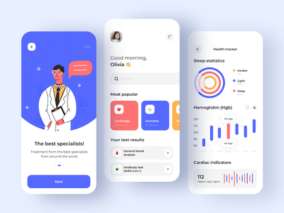 Medical app - Mobile App health care health app health healthcare medical care medical app medicine medical mobile design mobile app design app mobile ui mobile app app design