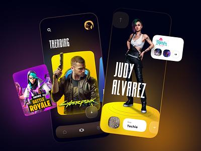 Game app - Mobile App ui design gamer games game design game mobile design mobile app design app mobile ui mobile app app design