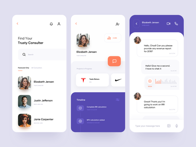 Consulting Service — Mobile App Other Screen consulting search business crm chat finance app design budget dashboad product design mobile app mobile ui