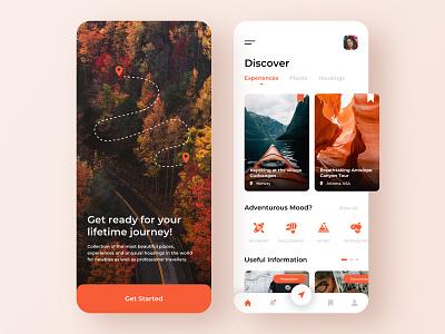 Travel service - Mobile concept trip mobile app design mobile design mobile ui travel app mobile app app design traveling travel