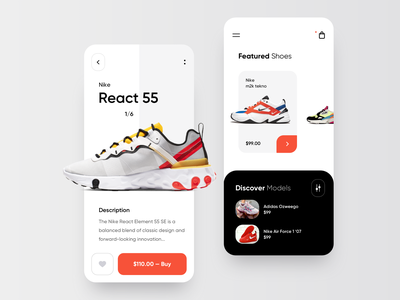 Sneakers Online store - Mobile App mobile app design store app store shopping app shop shoes online store online shop nike mobile app card design card app design