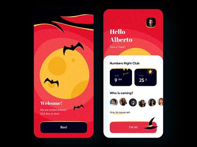 Happy Halloween Party - Mobile App app halloween bash halloween design app design mobile app design mobile design mobile ui halloween party halloween mobile app