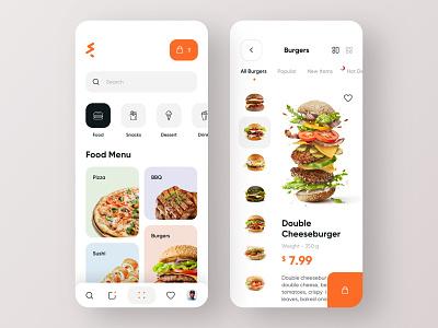 Food Delivery - Mobile App mobile design food ordering food order food app food delivery app delivery mobile app mobile ui app design cook calories burgers burger menu app