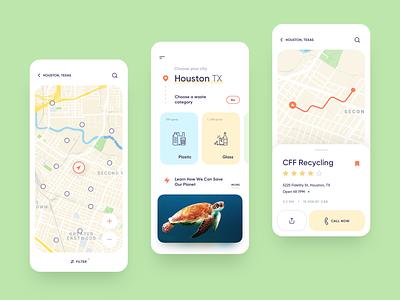 Eco App - Mobile Concept mobile app design mobile design navigate tracking track navigation maps app mobile app ecology eco delivery app delivery mobile ui app design