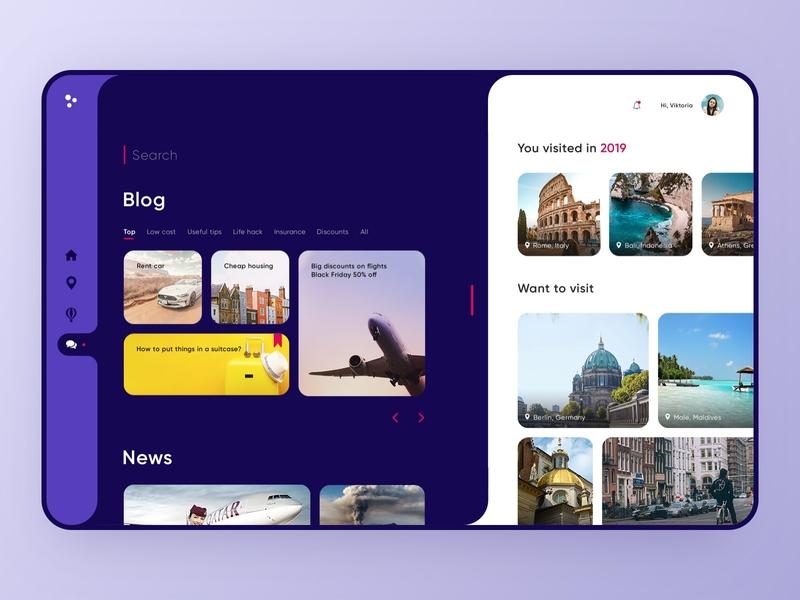 Travel Blog - Web Design web website design travelling travel journey web design blog design tourists tourism webdesig website