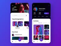 Social network for photographers - Mobile App