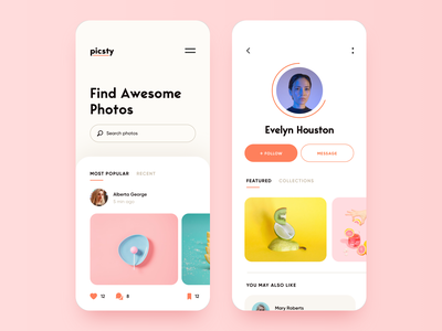 Photography Discovering — App Design mobile mobile app design mobile design mobile ui app ux ui social social network social app photography photo discovery discovering mobile app app design