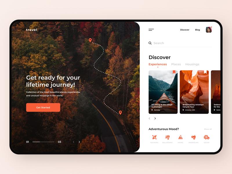 Travel service - App design