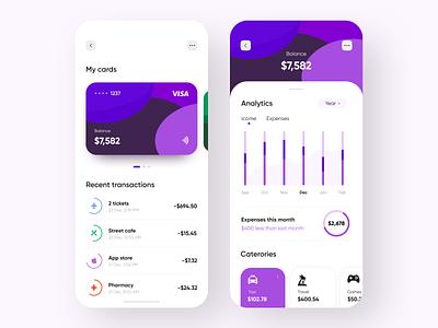Personal Finance App dashboard app banking app banking fintech app fintech finance app mobile design mobile app design mobile ui mobile app app design