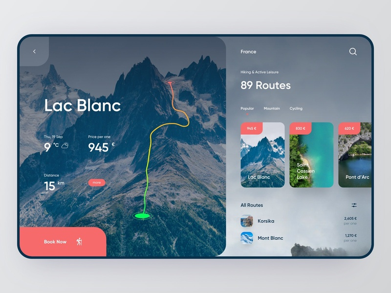 Tourism App — App Design