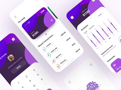 Personal Finance - Mobile App mobile design mobile ui mobile app design dashboad mobile app fintech app banking app fintech finance bank app banking app design app