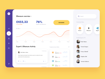 Cryptocurrency CRM - App Design