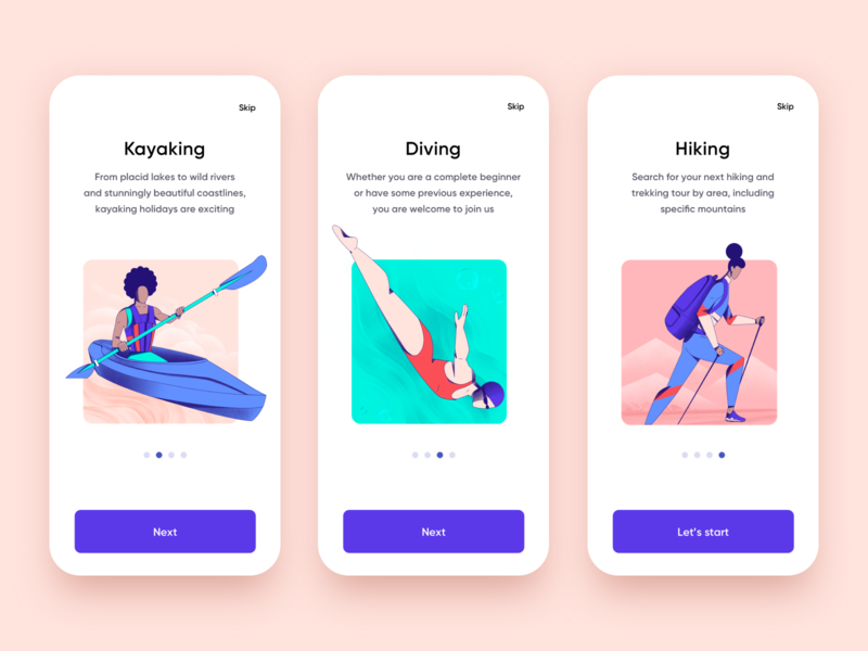 Sports App Onboarding tours tourism travel agency travel app traveling travel illustraion mobile design onboarding screen onboarding ui onboarding mobile app design app mobile ui mobile app app design