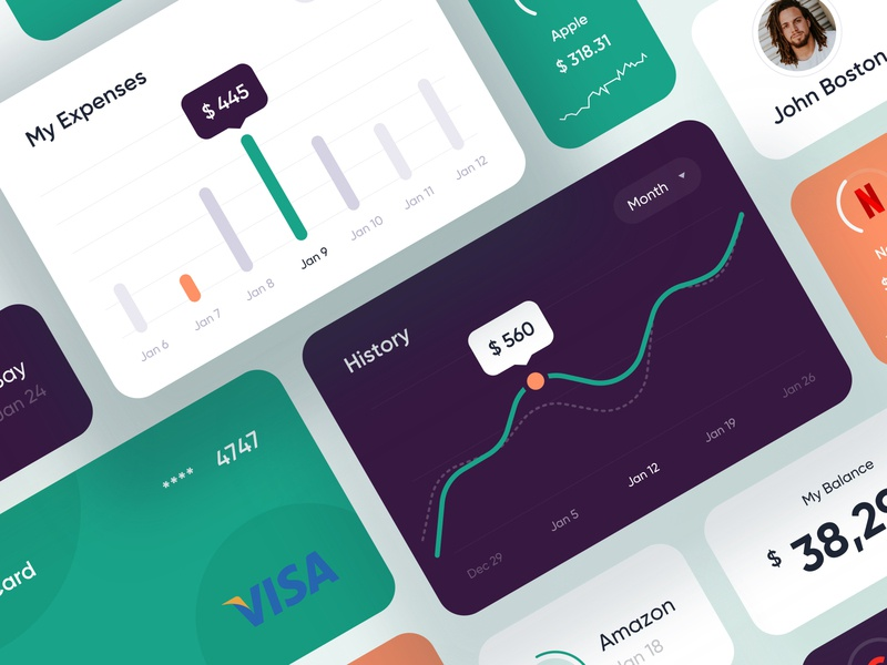 Mobile banking ui elements - Mobile App credit card creditcard bank card banking app banking bank mobile design app mobile app design mobile ui mobile app app design