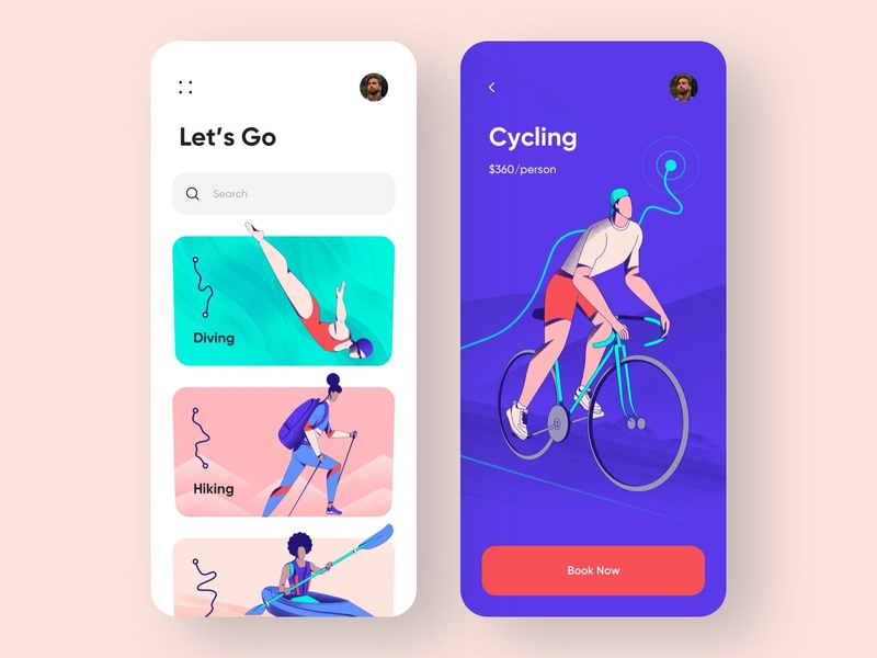 Sports App - Mobile App travel app traveling travel booking sports sport mobile design app mobile app design mobile ui mobile app app design