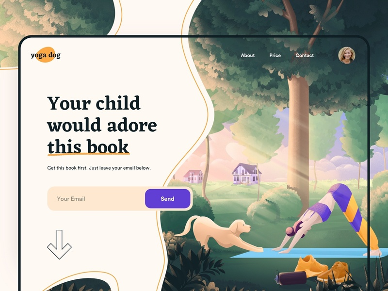 Landing page for child book - Web Design children children book illustration childrens book child illustrations illustraion landingpage landing page website design web read book web design webdesign website books