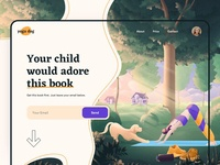 Landing page for child book - Web Design