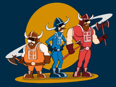 Los Vikingos Galácticos illustration vikingos characters personajes