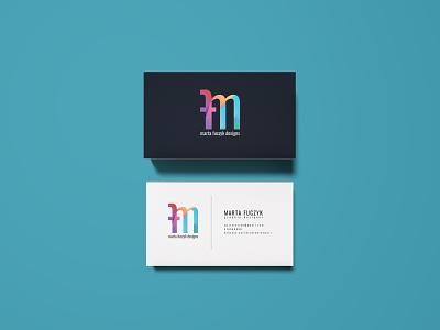 Personal branding typography gradient design mockup personal logo branding businesscard
