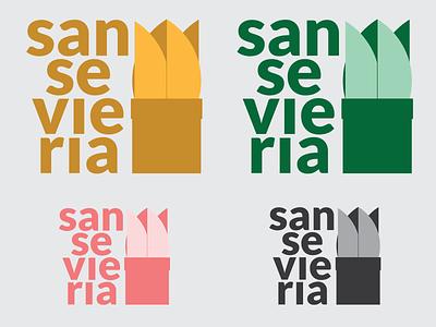 Sansevieria - logo design typography adobe photoshop adobe illustrator vector branding icon graphicdesign logo logodesign plant logo photoshop illustrator design plant