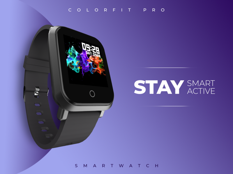 Smartwatch ad concept design branding art smartwatch adobe advertisement graphic design flat concept typography design adobe photoshop