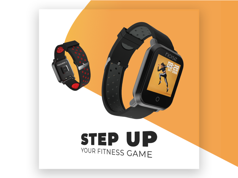 Another smartwatch ad advert watch smartwatch branding advertisement graphic design flat concept typography design adobe photoshop