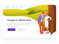 Kabedon - Header Illustration White Day Website