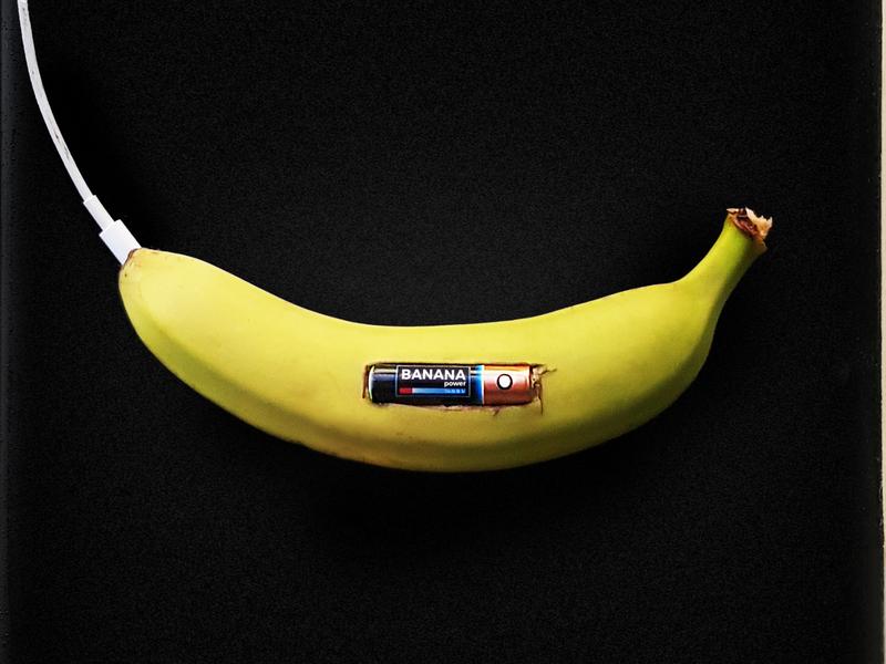 Banana Power photography creative concept photomontage minimalism collage photoshop illustration art photo power